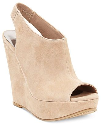 Carlos By Carlos Santana Becket Slingback Platform Wedge Sandals - Carlos Santana - Shoes - Macy's  Color: Taupe Price: $89