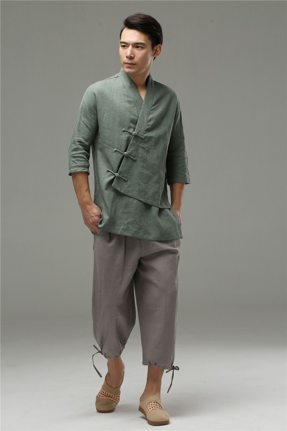 80989d29069 Digging the specifically asian-inspired vibe. Mens Linen Clothing, Mens  Linen Shirts,