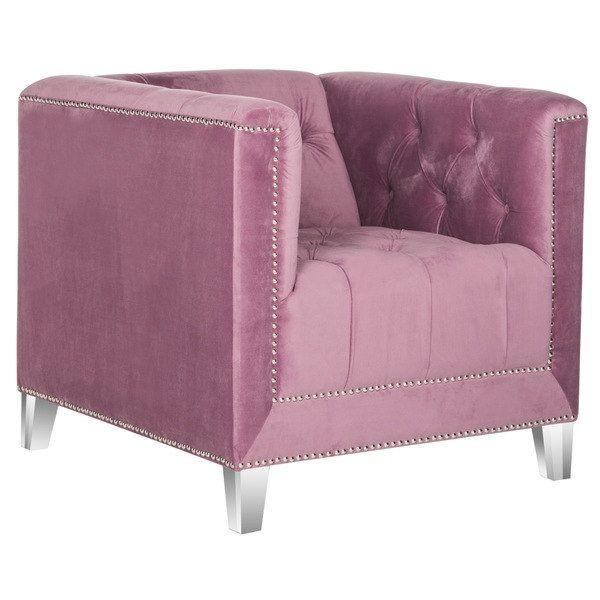 Safavieh Carine Plum/ Clear Club Chair | Small Space Living ...