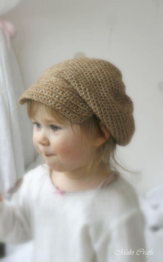CROCHET PATTERN newsboy cap hat Gavroche (toddler/ child/ woman ...