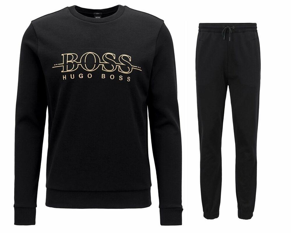 hugo boss tracksuit bottoms black