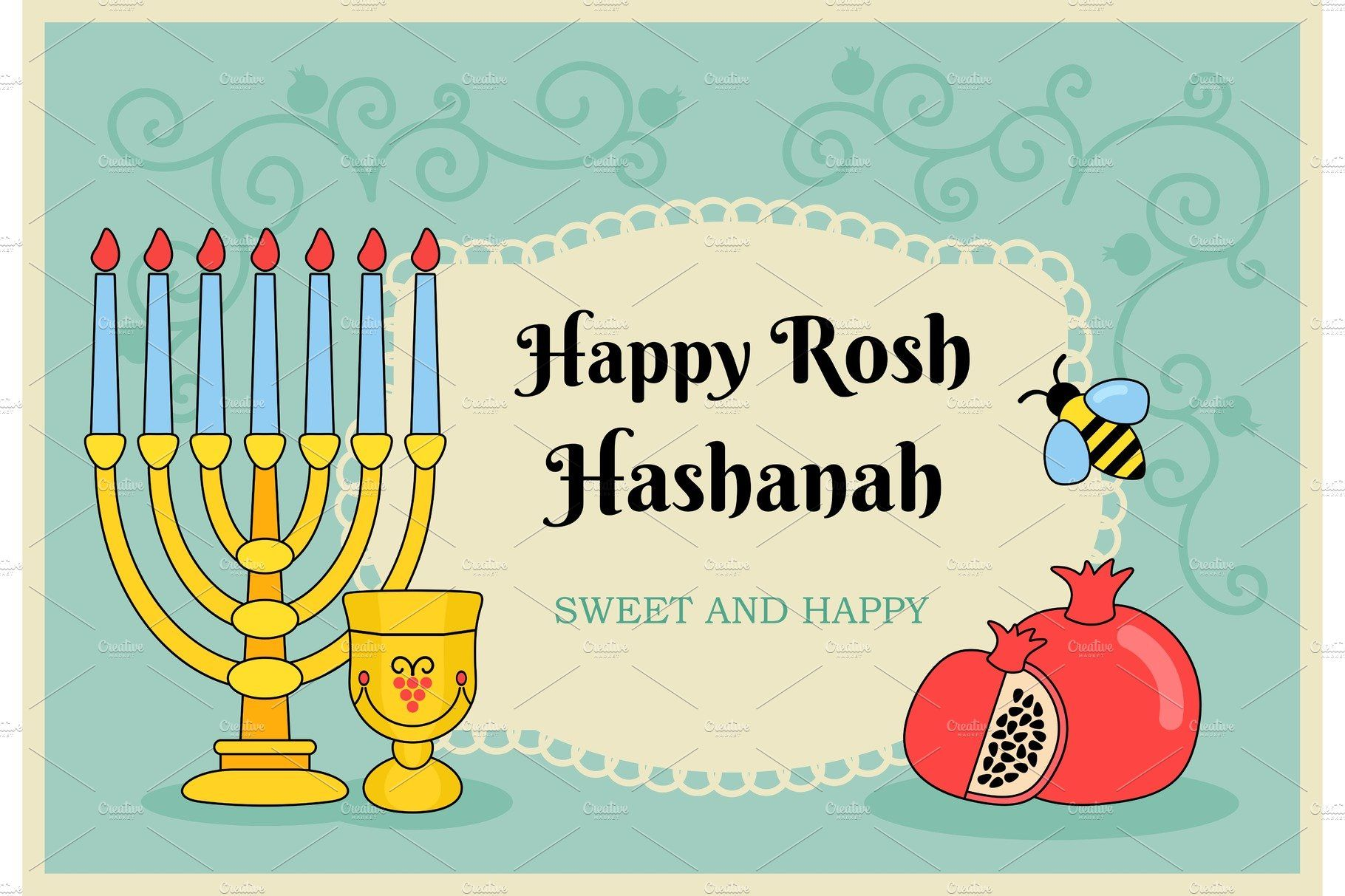 Card for Jewish new year holiday (With images) New year