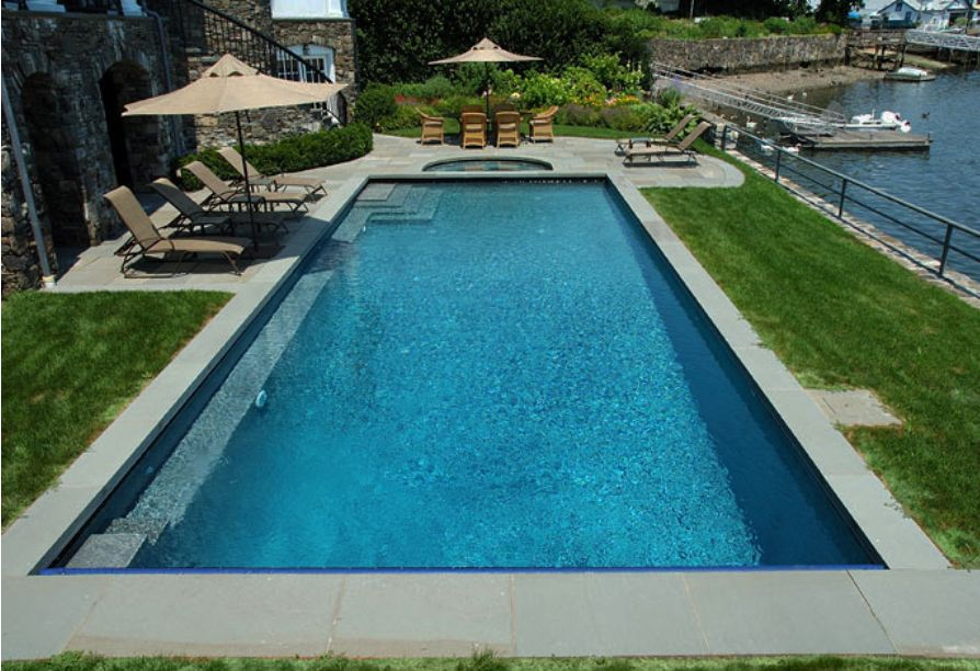 Granite pavers around pool roselawnlutheran for Swimming pool paving pictures