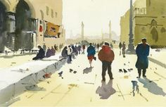 How to Paint People and Figures in Watercolour Townscapes