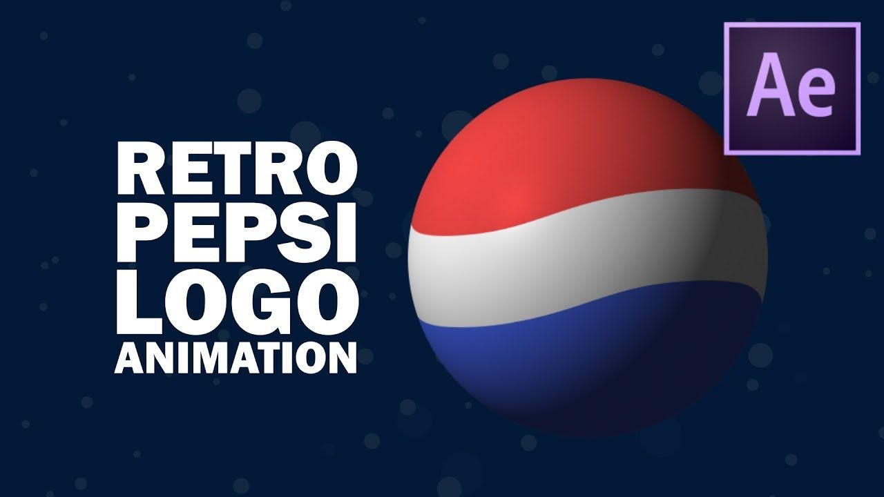 Retro Pepsi logo animation in After Effects | After effect