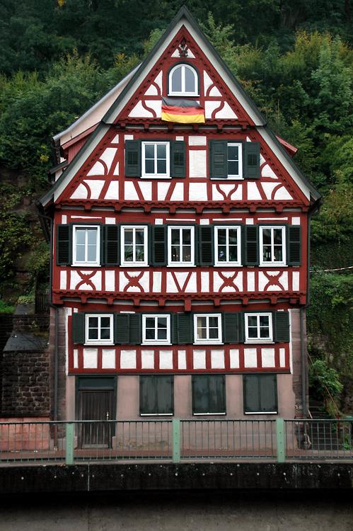 Cute patriotic house in Calw, Baden-Württemberg