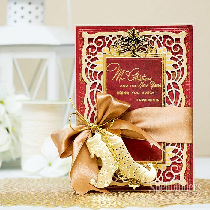 Video tutorial elegant christmas card elegant christmas for Elegant homemade christmas cards
