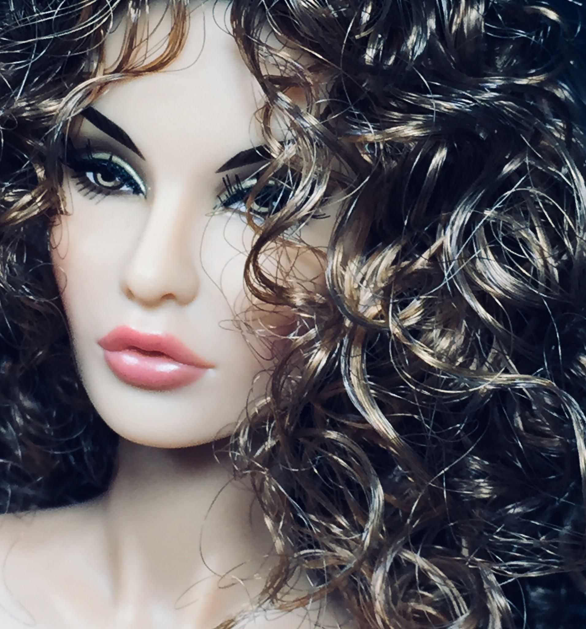 inch Hair Dress Form OOAK Doll making supplies 8-9 Dollmore