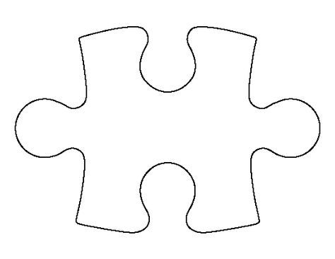 Puzzle Piece Pattern Use The Printable Outline For Crafts