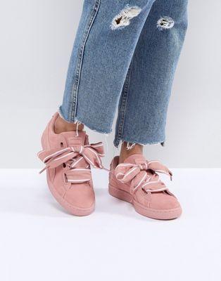 puma suede basket heart rosa