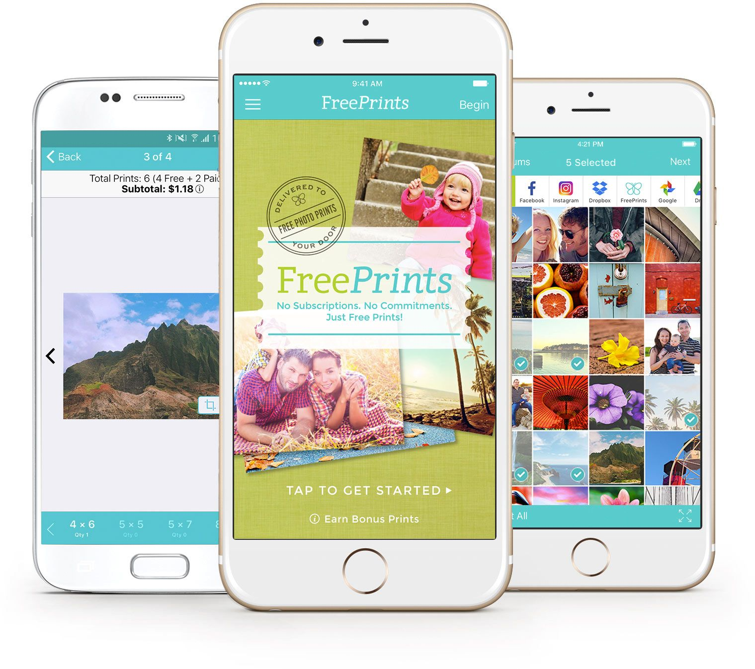 FreePrints for iPhone and Android Free photos prints