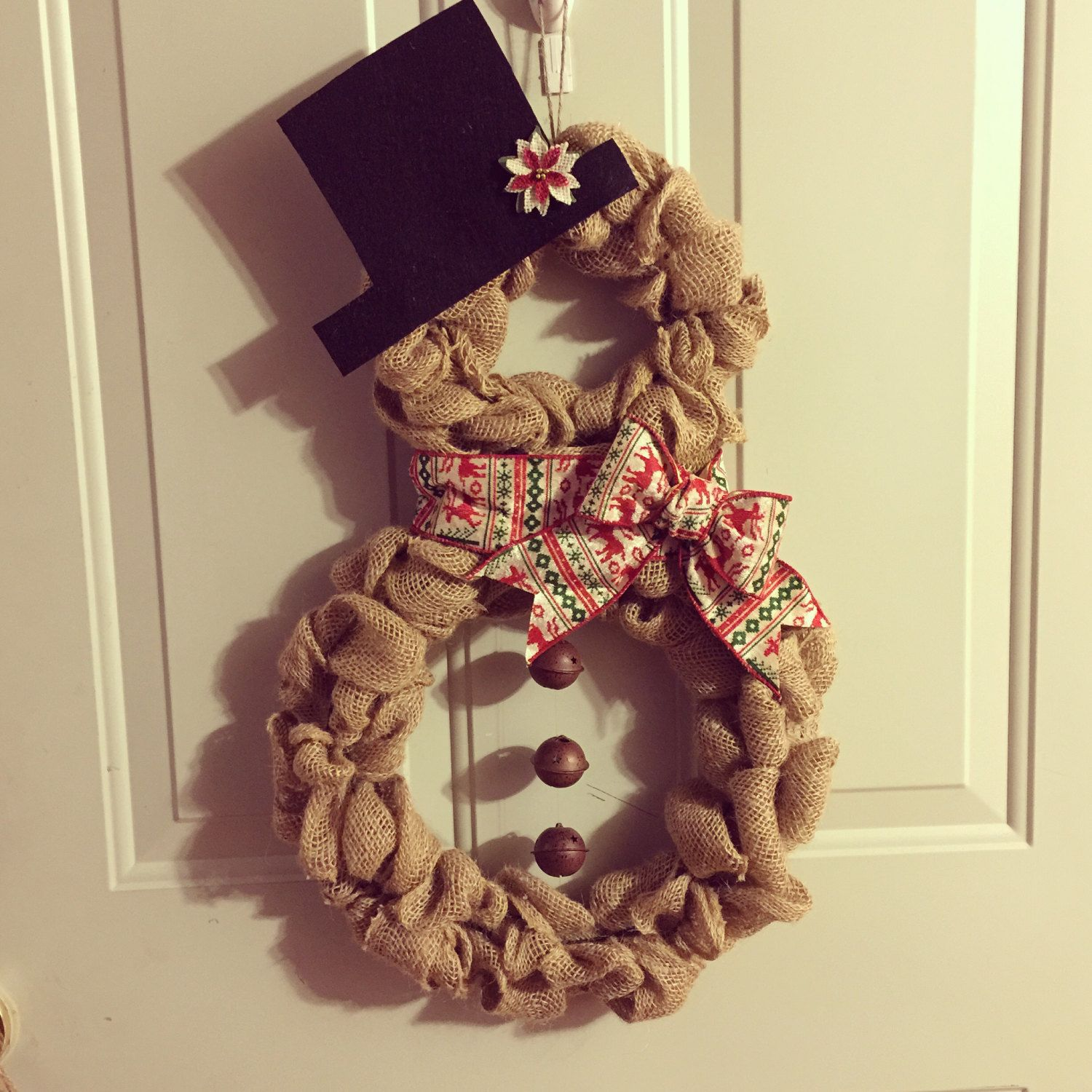 Snowman Wreath For Front Door Diy