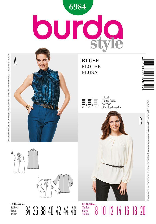 Simplicity Creative Group - Burda Style Blouse   patrones ...