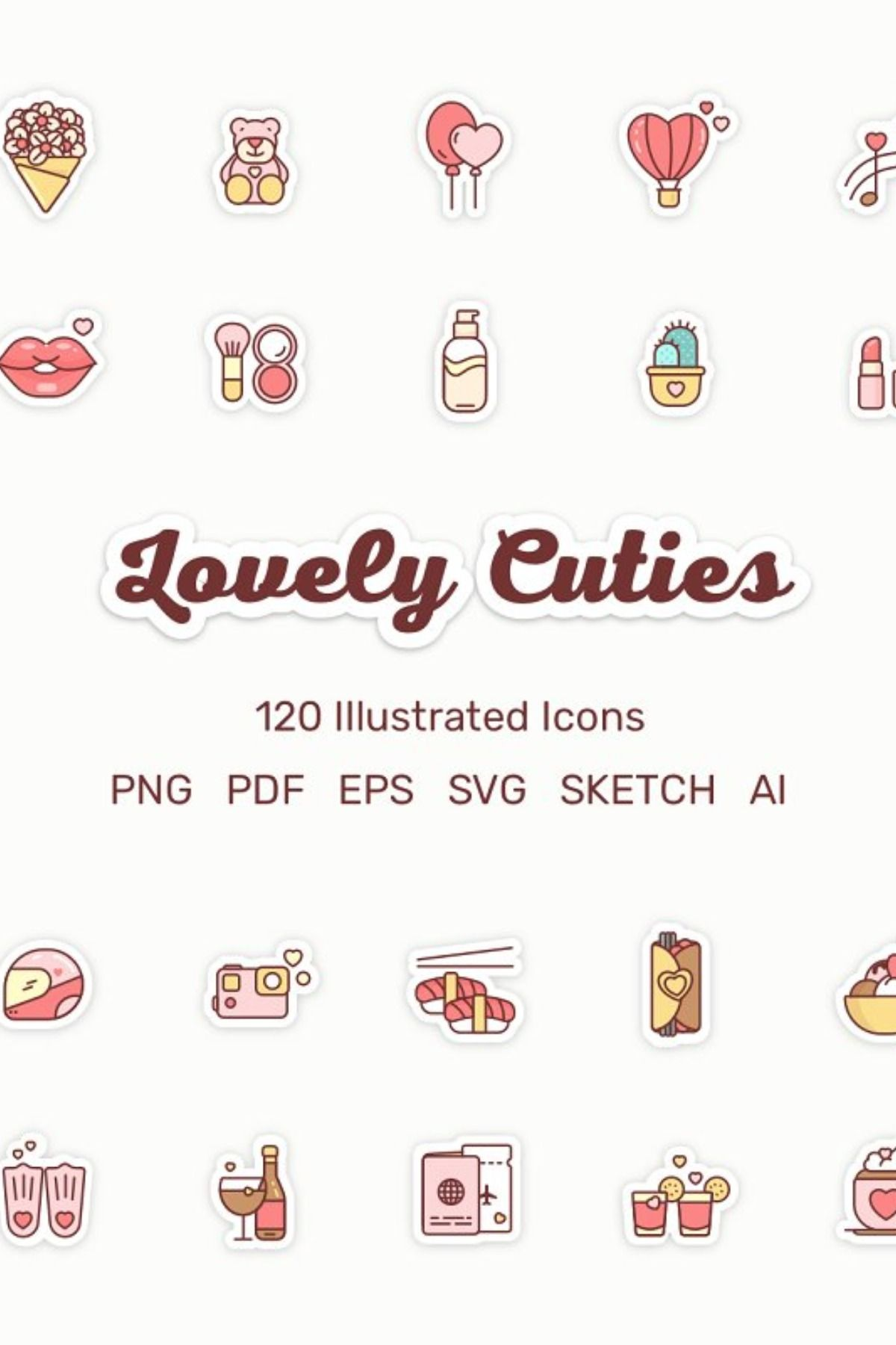 Lovely Cuties 120 Illustrated Icons Icon, Illustration