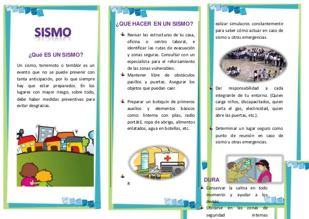 Triptico Que Hacer En Un Sismo Education Study Motivation Activities