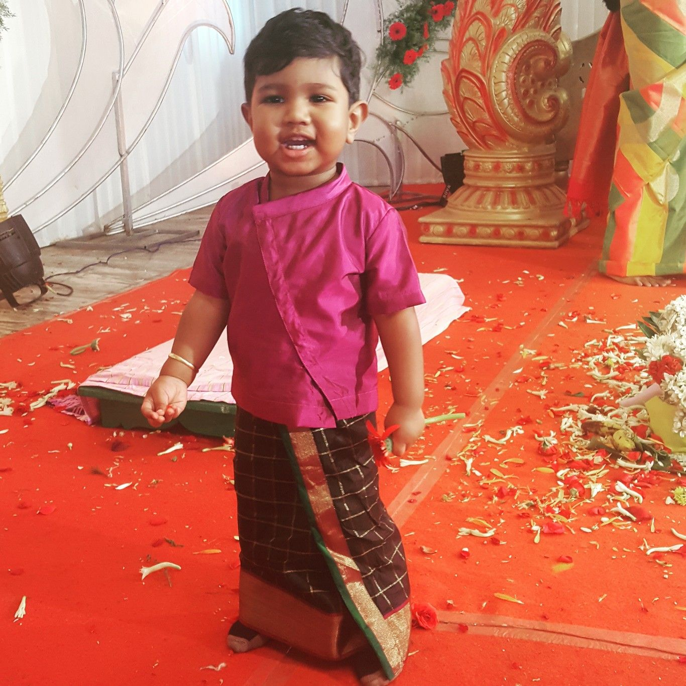 e05c305b Little boy in Black vesti/dhoti | clothes for baby boy in 2019 ...