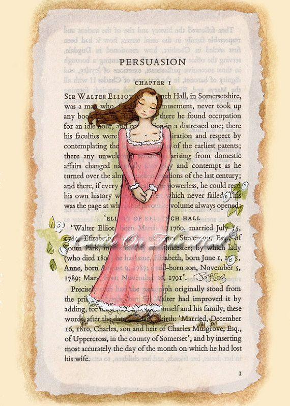 Persuasion Anne Elliot 5 x 7 Jane Austen
