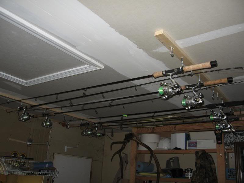 Ceiling Rod Rack Plans Fishing Rod Holder Video 1 Easy