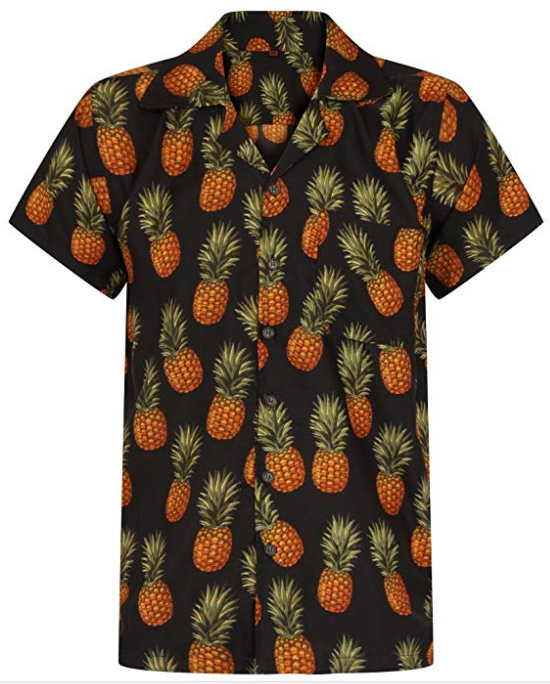 d6439ffb6e0 Hawaiian Shirt Pineapple Shirt Mens Aloha Hawaii Holiday Beach Stag Juice  BBQ Beer Summer Tropical Fruit Vintage Clothing Classic S M L XL XXL  Colour  Black