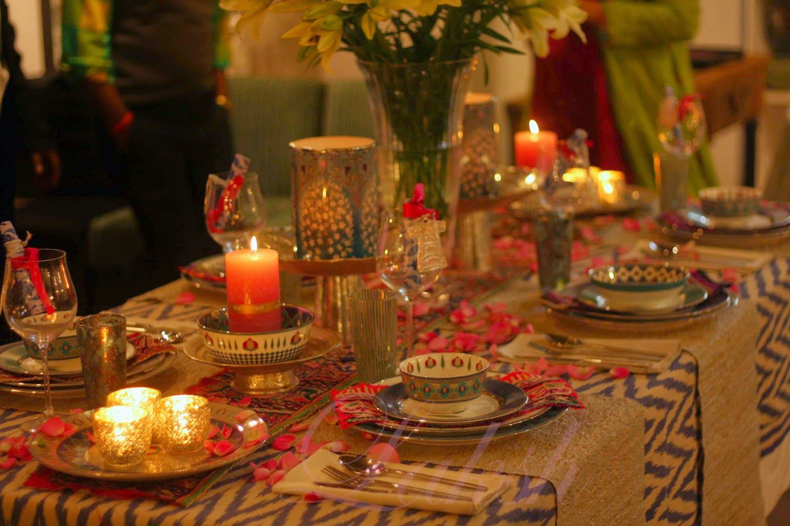 Celebrations Decor An Indian Decor Blog Dinner Table Decor Dining Table Decor Decorating Blogs