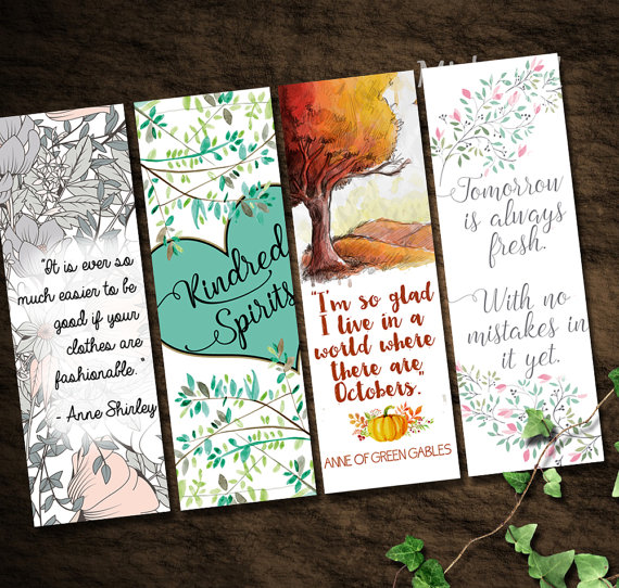 Printable anne of green gables bookmarks a world where for Anne of green gables crafts