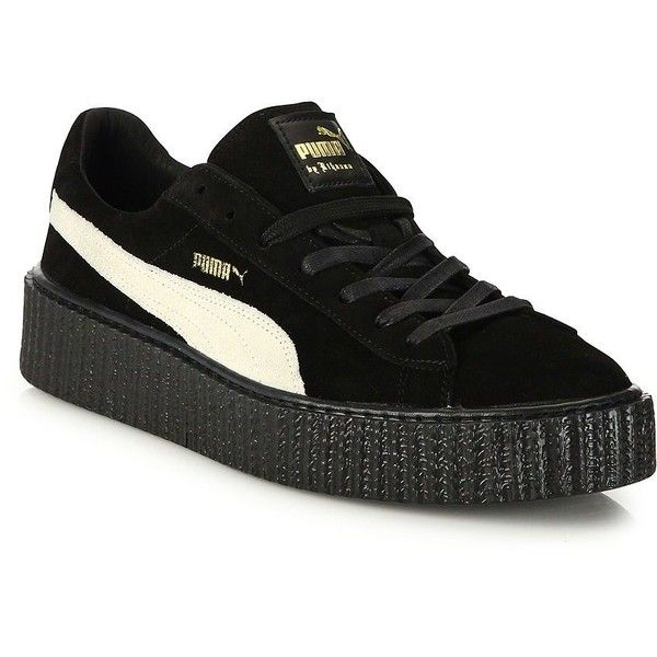 PUMA by Rihanna Suede Creepers (£120) ❤ liked on Polyvore