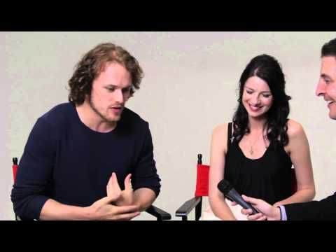 """Outlander"" stars Caitriona Balfe and Sam Heughan #InTheLab with @ArthurKade"