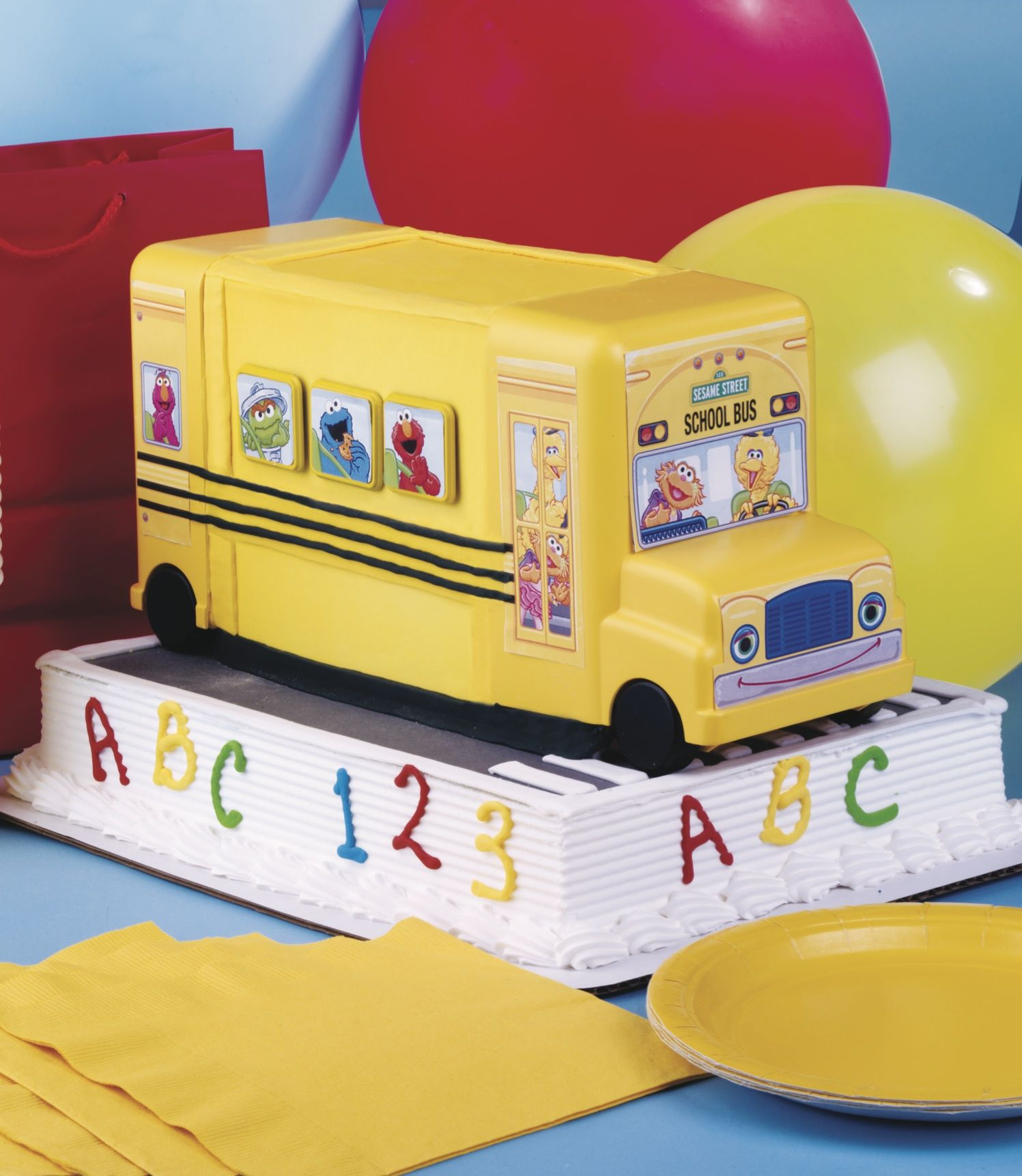 Sesame Street School Bus Birthday Sesame Street Pinterest