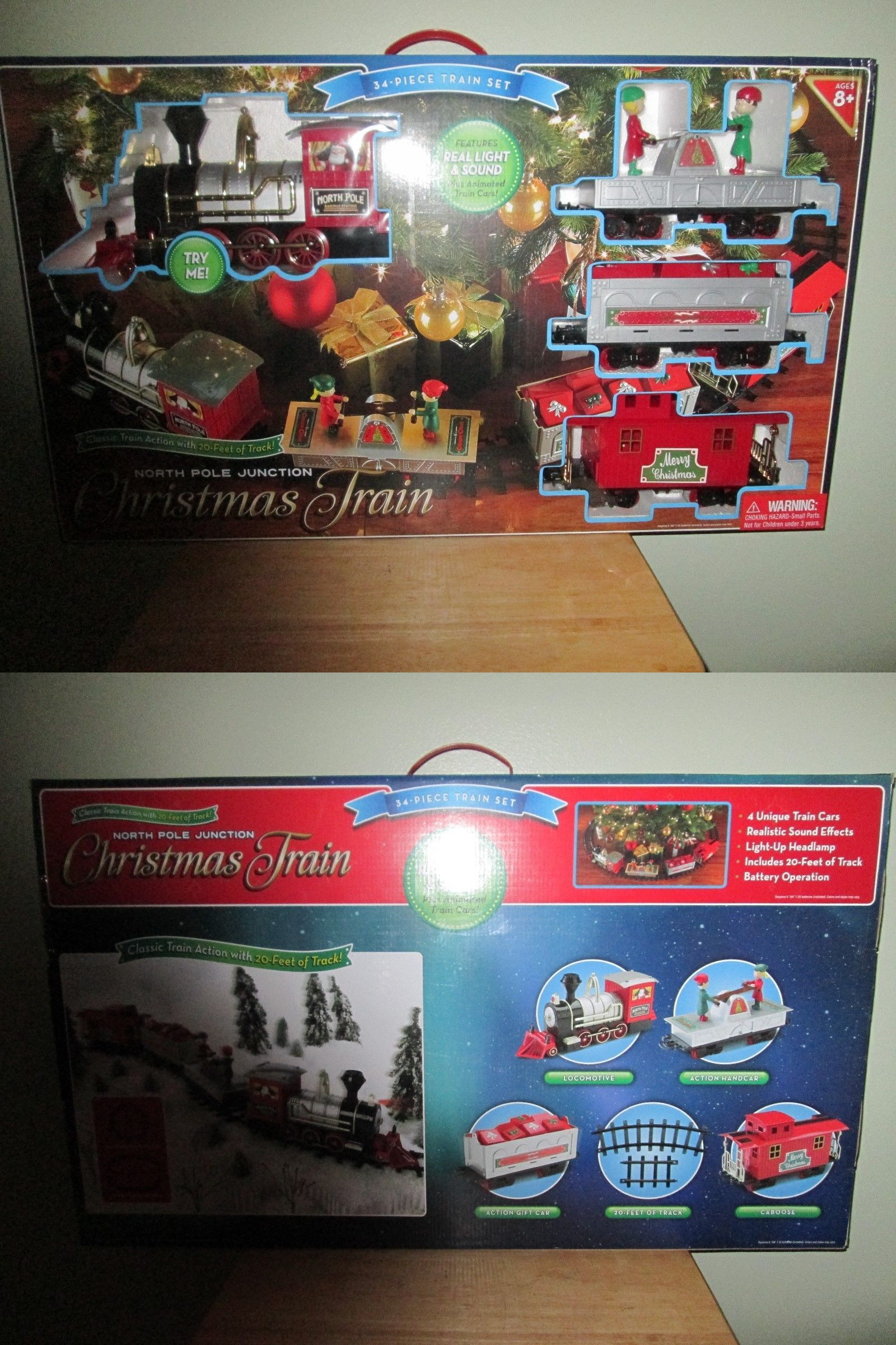 Other G Scale 4149: North Pole Junction Christmas Train Set, 34 ...