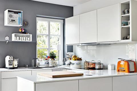 Ideen für die Küchenrückwand \u2013 Glas, Metall, Fliesen, Holz - kleine küchen ideen