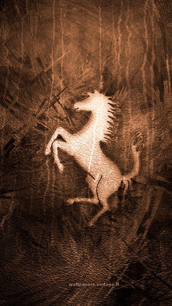 Ferrari Logo Leather Texture IPhone 6 Wallpaper
