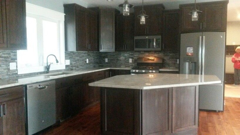 Slate Appliances Dark Cabinets Slate Appliances Dark Cabinets New Homes