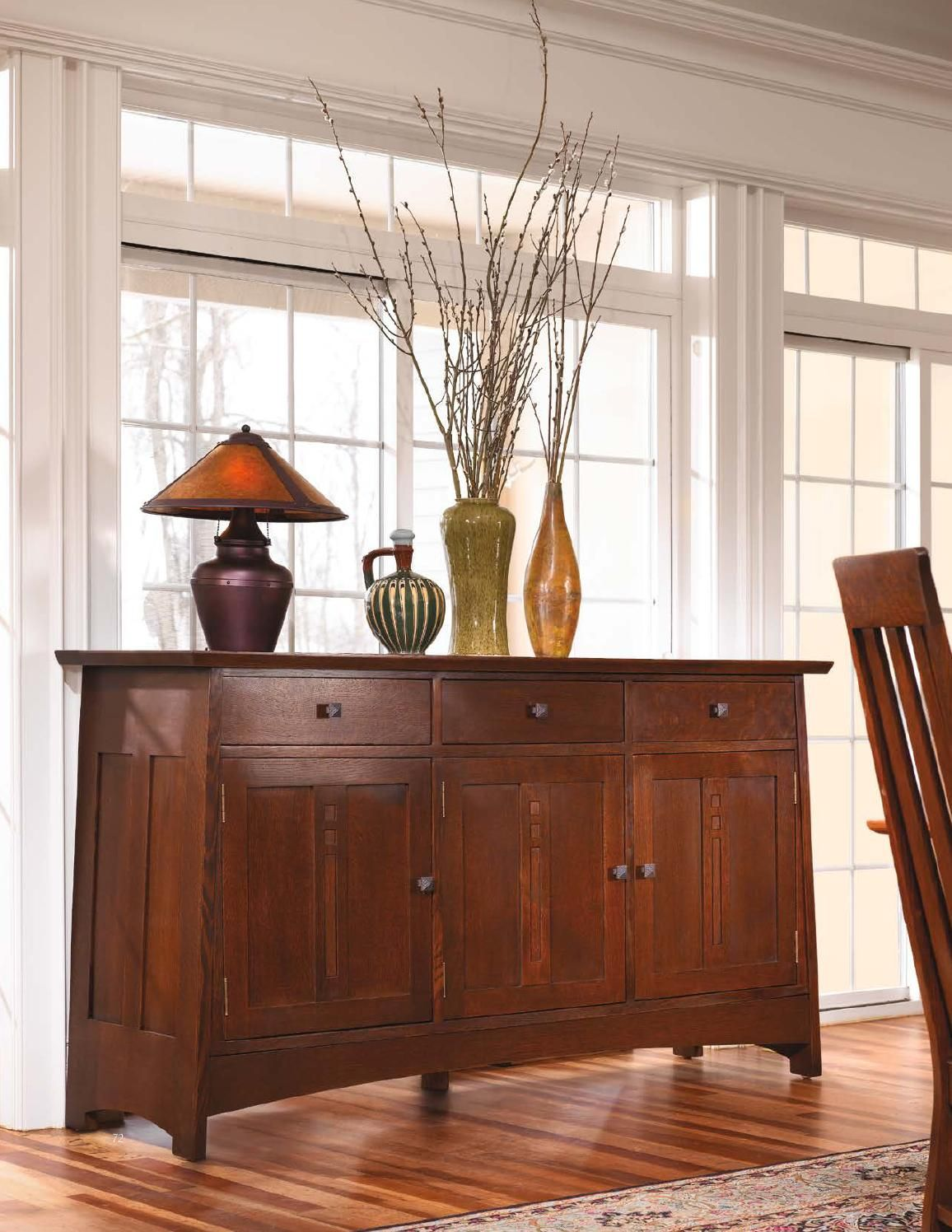 Stickley Mission Oak & Cherry Collection Office