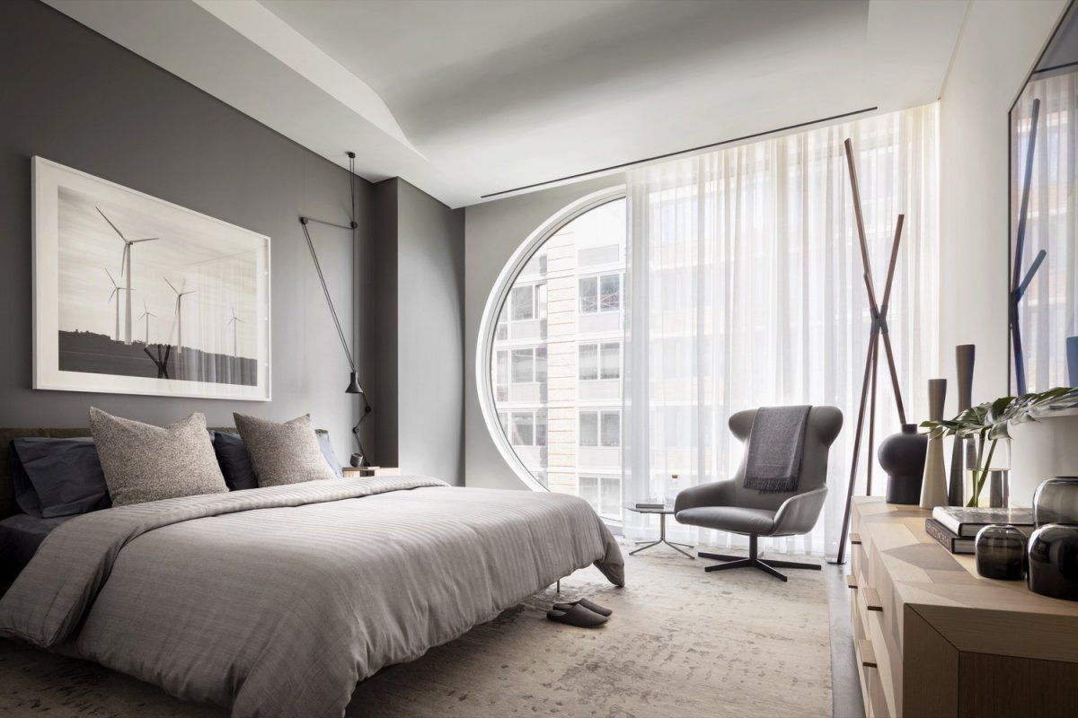 wonderfully muted grey tones for the bedroom