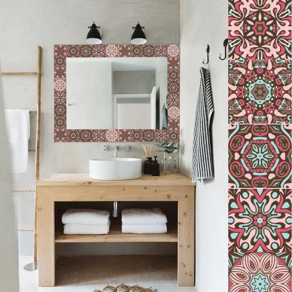 Avalon Vinilos Decorativos marco espejo baño mandalas | VINILO ...