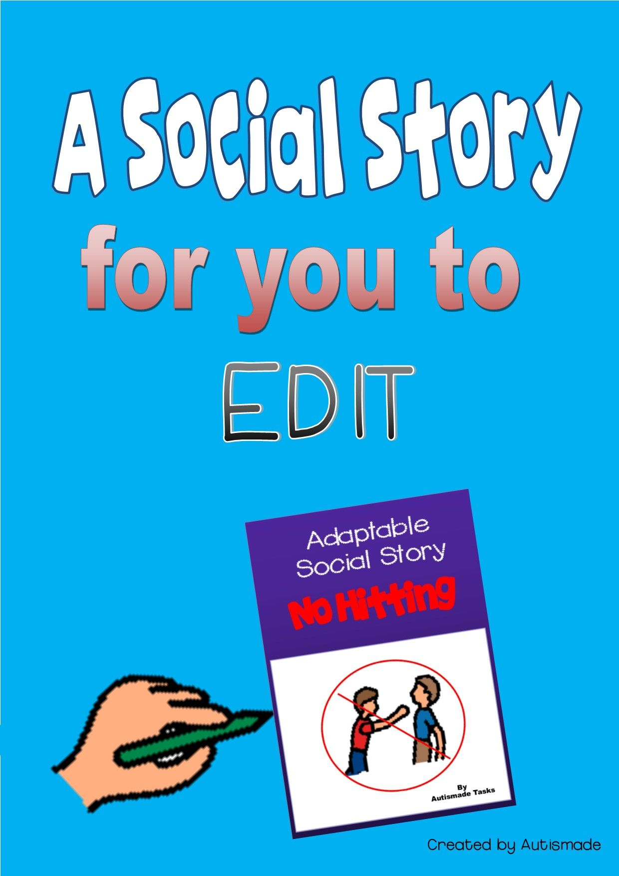 editable social story no hitting autism pre