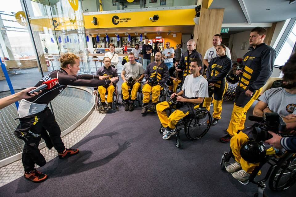 There are no boundaries in this sport. Everybody can try how does it feel to fly ! :)  http://www.hurricanefactory.com/prague/en #disabled # disabledactivity #Prague #Madrid #Berlin #Tatralandia #flying #tunnelflying #tunnelflyer #tunnelflyers #windtunnelflying #windtunnel #indoorskydiving #indoorskydive #indoorflying #skydivers #flyingmadrid #travelmadrid #madrid #international #adrenaline  #sport #attraction #indoor #skydiving #flyers #headdown #camp #coach #fly #bodyflying #bodyflight