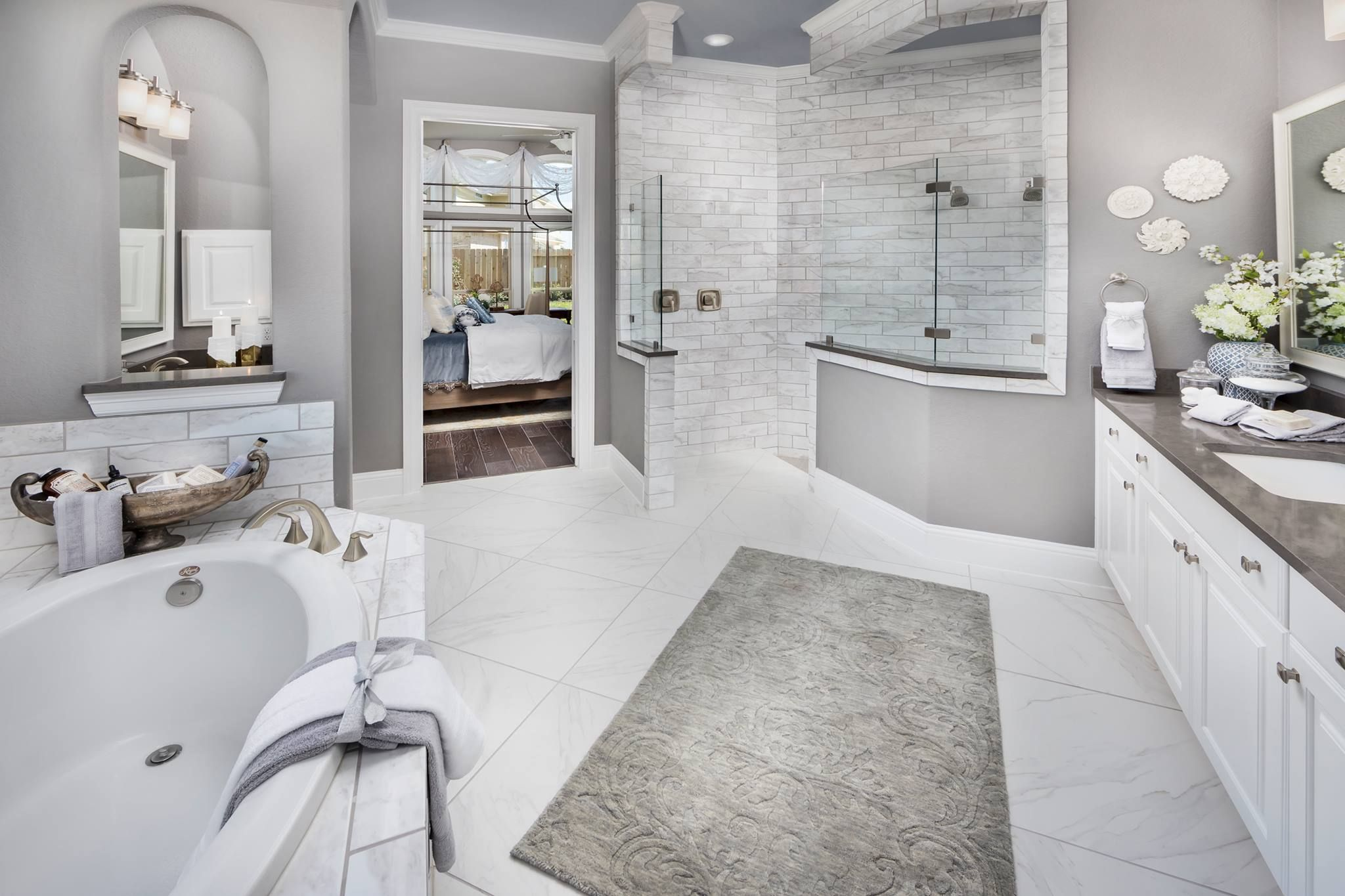 Use One Word To Describe This Luxurious Bathroom New Homes New Home Construction Dream Bathrooms