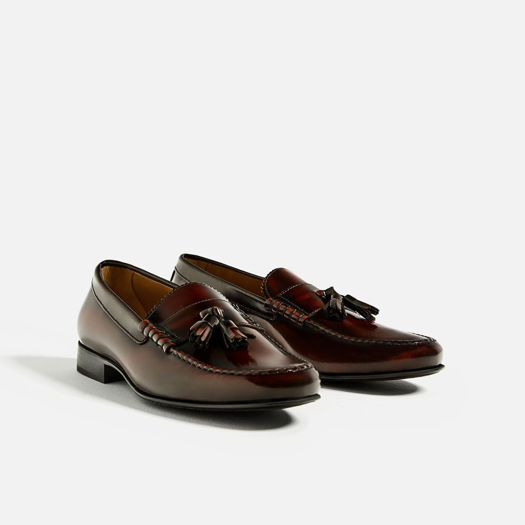 64d28dceb38 BURGUNDY LEATHER TASSEL LOAFERS-View all