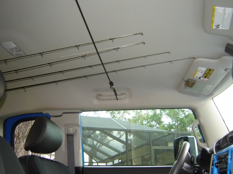 Has anyone rigged up fishing pole holders for the rack for Fishing pole roof rack