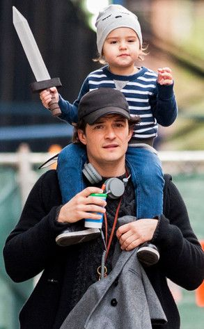 Orlando Bloom and Flynn