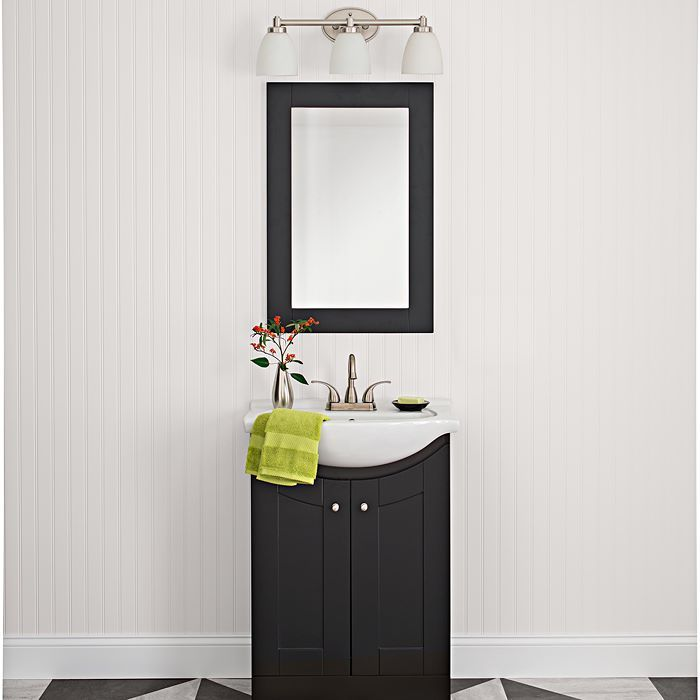 This Bathroom Vanity Perfectly Encompasses Clean Strong