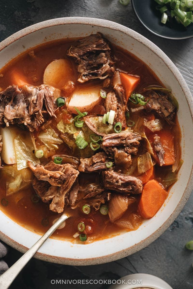 the pressure cooker oxtail soup is a simplified version