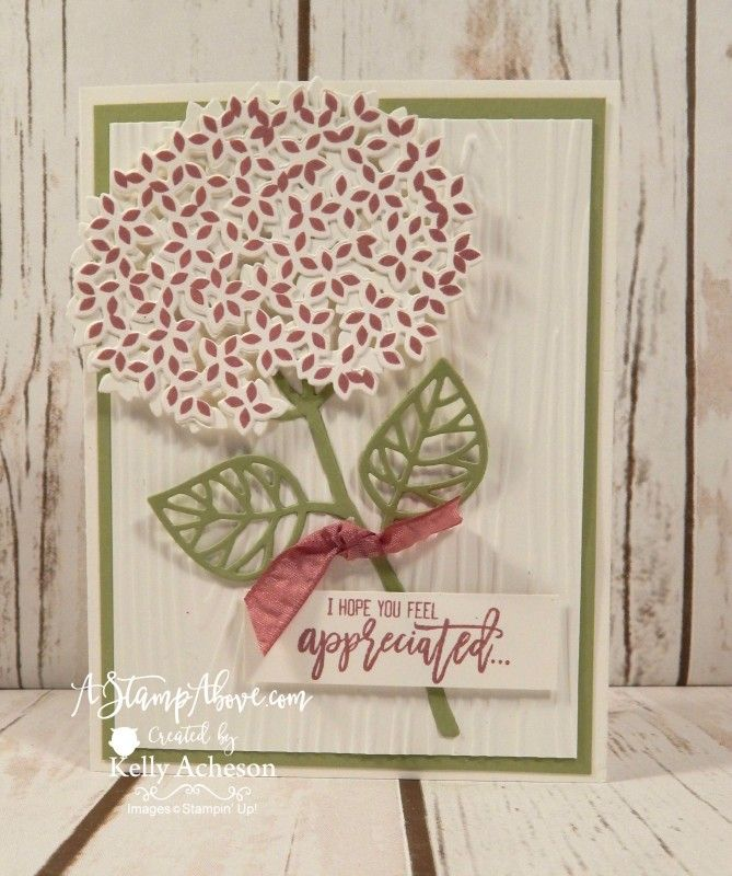 Sweet Sugarplum Hydrangea - Another card I made at a stamping event in Chicago. I have a photo of all the projects on my blog here:  http://astampabove.typepad.com/my-bl...-card-kit.html  Thanks for looking!