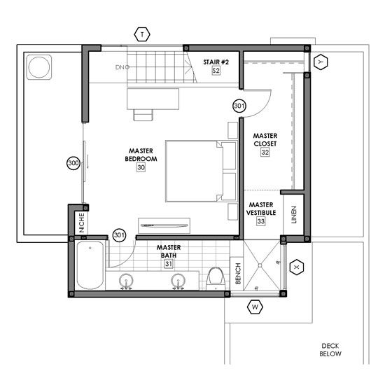 floor plan option 4 - the voyeur shower (second story) : modative