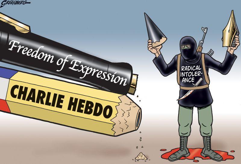 Charlie Hebdo Intolerance Steve Greenberg USA Europa - 24 powerful cartoon responses charlie hebdo shooting