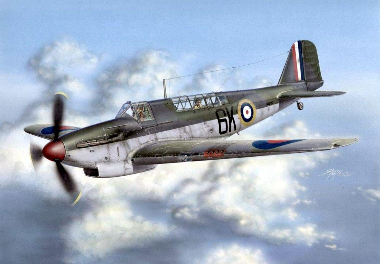 1940 12 Fairey Fulmar Mk. I Royal Navy Fleet Air Arm 809 Sqn - Stan Hajek - Special Hobby
