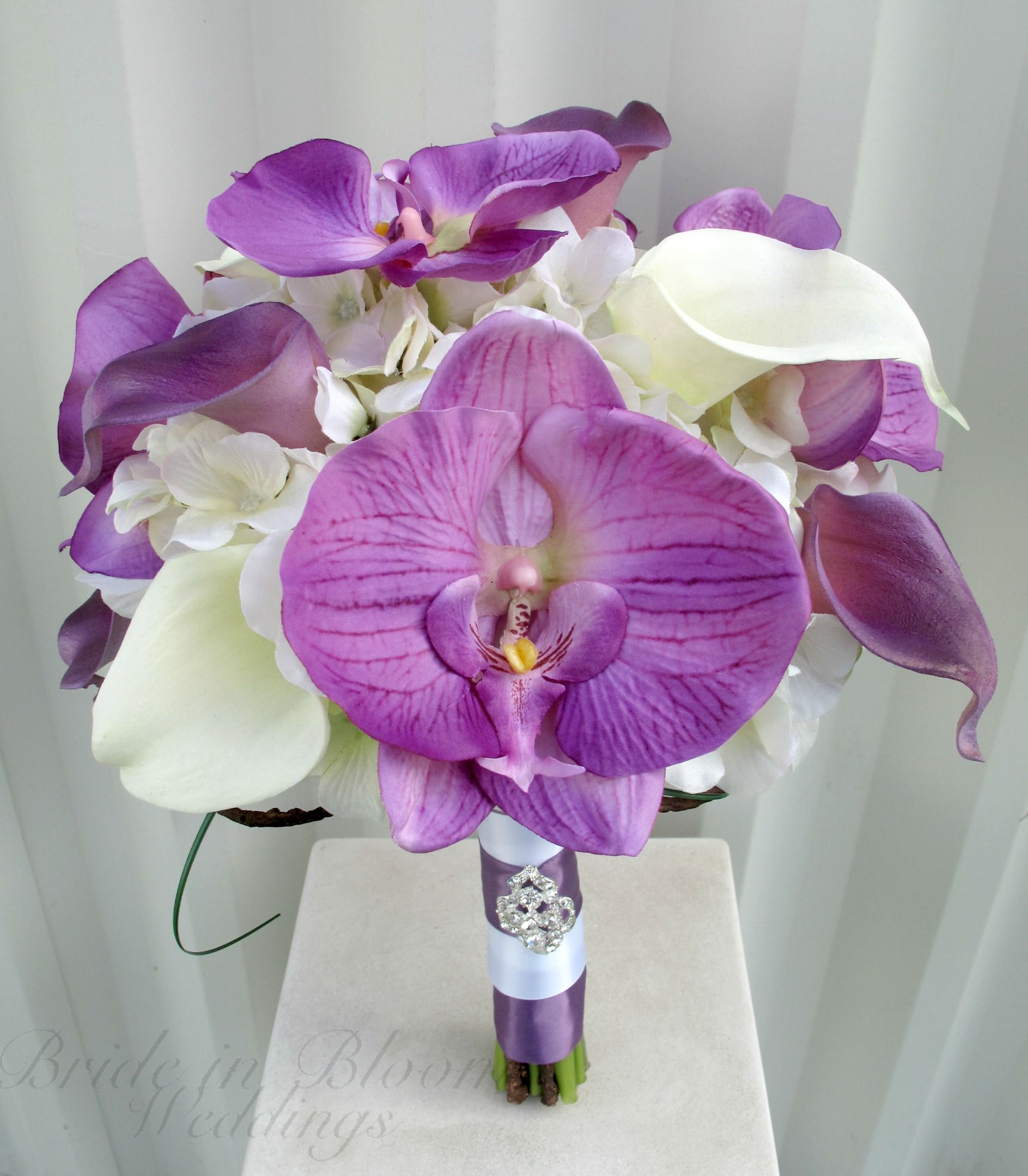 Wedding bouquet lilies and orchids lavender white calla lily orchid wedding bouquet lilies and orchids lavender white calla lily orchid wedding bouquet bride in bloom pmeyiiqh izmirmasajfo