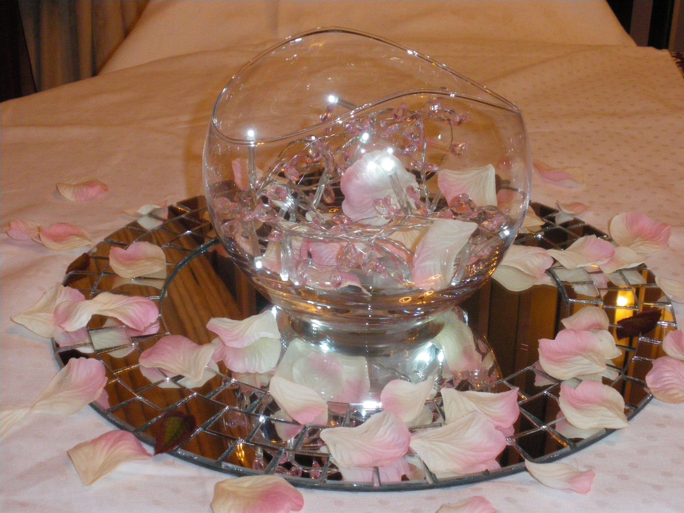 Fairy Lights & Goldfish Bowl Centrepieces