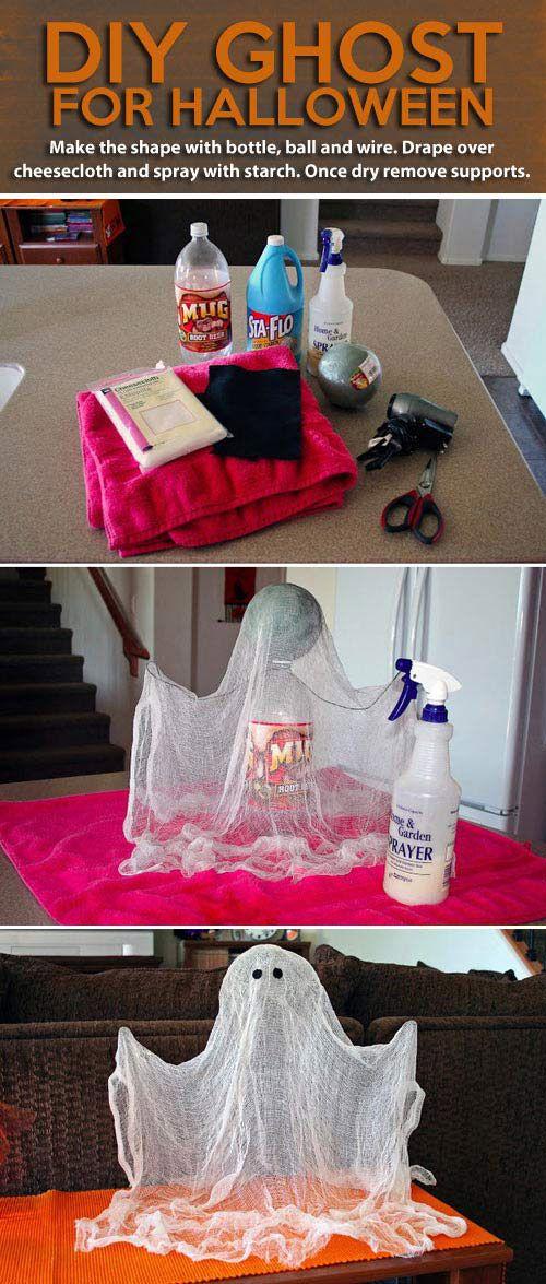 DIY Ghost for halloween Halloween Pinterest Board, Holidays - homemade halloween decoration ideas for yard